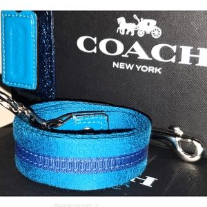 Coach Poppy Blue Canvas Strap/Hangtag Replacement